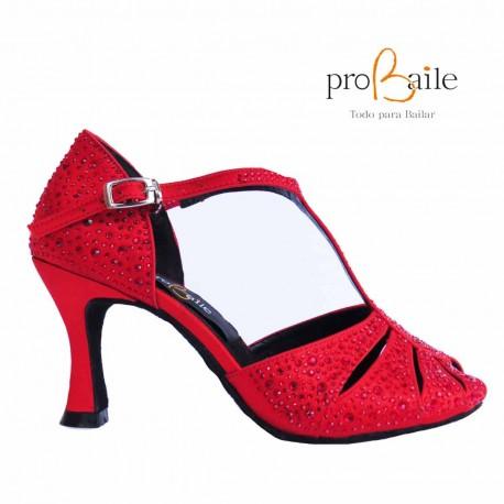 Zapatos de baile rojos brillantes