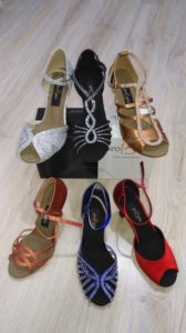 Colores habituales zapato baile