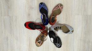 colores zapatos de baile