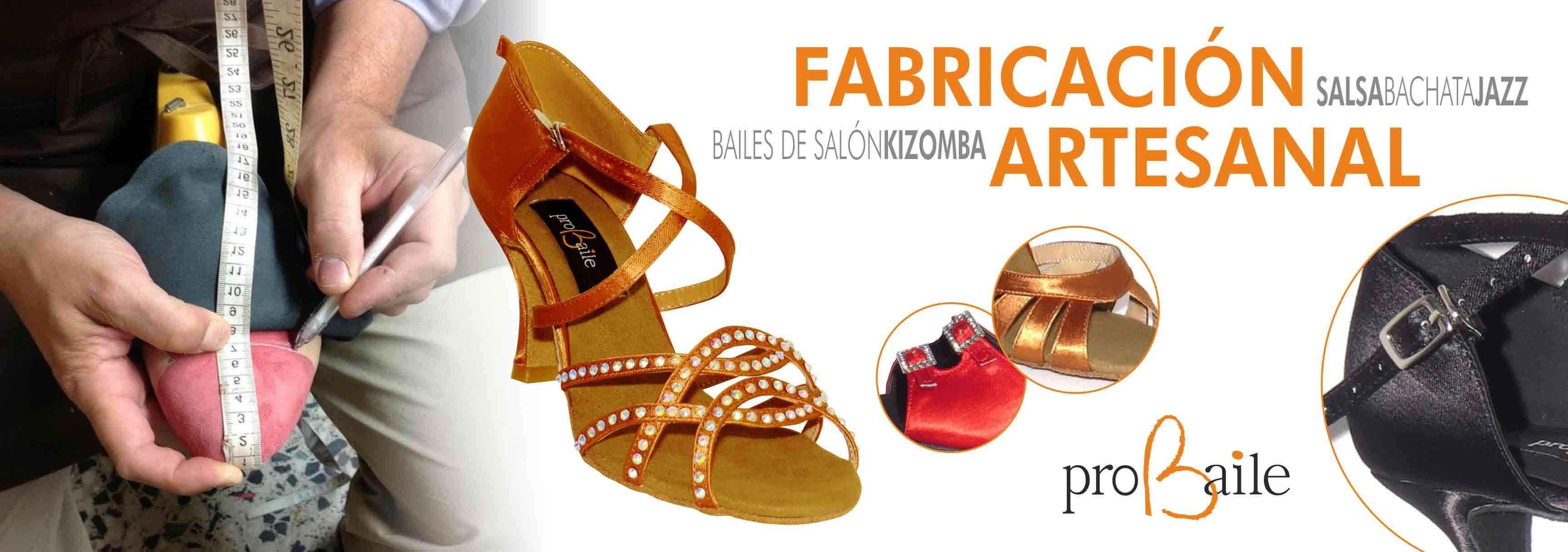 Fabricación artesanal zapatos de baile